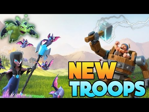 Thumbnail: Clash of Clans | New TROOPS in Huge CoC Update!! Night Witch, War machine + More! New Troops May 22!