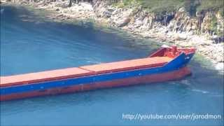 General cargo ship ANNA run aground at Ferrol bay. 19.05.2013