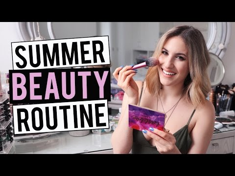 SUMMER BEAUTY ROUTINE 2016 | My Everyday Makeup, Hair and Skincare | JamiePaigeBeauty