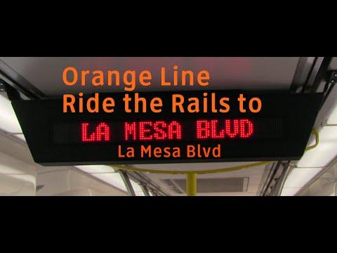MTS Trolley - Orange Line Ride the Rails to La Mesa