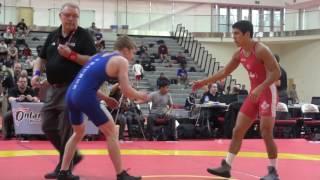 2017 Guelph Open FS57kg Steven Takahashi (London) vs Alex Moher (Brock)