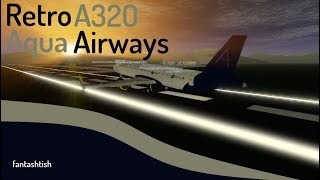 ROBLOX | Aqua Airways Retro A320 Flug.