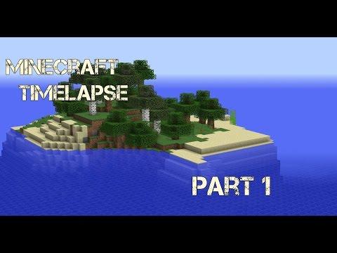 Getting started!  Minecraft timelapse  Survival island  Part 1