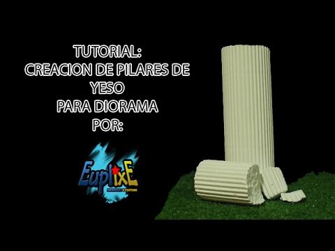 tutorial pilares o columnas de yeso para diorama por euplixe