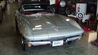 1964 Chevrolet Corvette Stingray Convertible 327 V8 Four-Speed - Startup and Walkaround