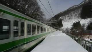 【JR上越線】湯檜曽駅 普通 水上行【国鉄115系電車】