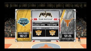 |Breakout vs FAB 5|NBA 2K18 Pro Am Comp(MPBA Season 10)