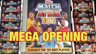 MEGA TOPPS MATCH ATTAX 101 TRADING CARDS OPENING | MEGA BOOSTER PACKS