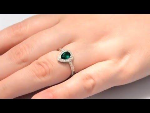 Кольцо серебряное с изумрудом нано Карина ПДК115НИ