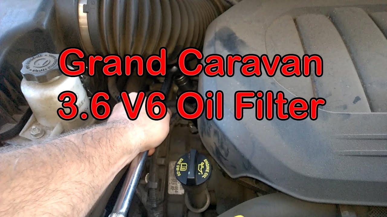 medium resolution of oil filter location on grand caravan 3 6 v6