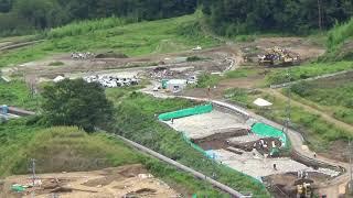 八ッ場ダム水没予定地川原畑地区の遺跡発掘現場