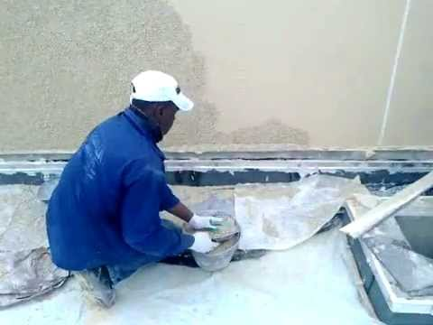 How To Apply Marble Chips On The Wall
