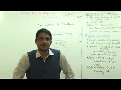 (4/4)Public Finance Reforms : FRBM Act 2003 & Amendments | Raja Chelliah Committee | M K Yadav