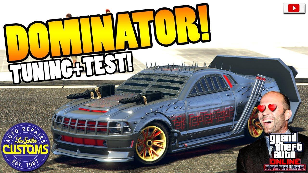 Das Death Race Auto Dominator Tuning Test Gta 5 Online