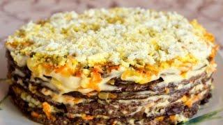 Как приготовить Печёночный Торт ПОШАГОВЫЙ ПРОСТОЙ РЕЦЕПТ