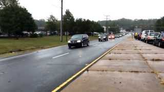 Marine Sgt Charles Strong funeral procession through Stafford, VA
