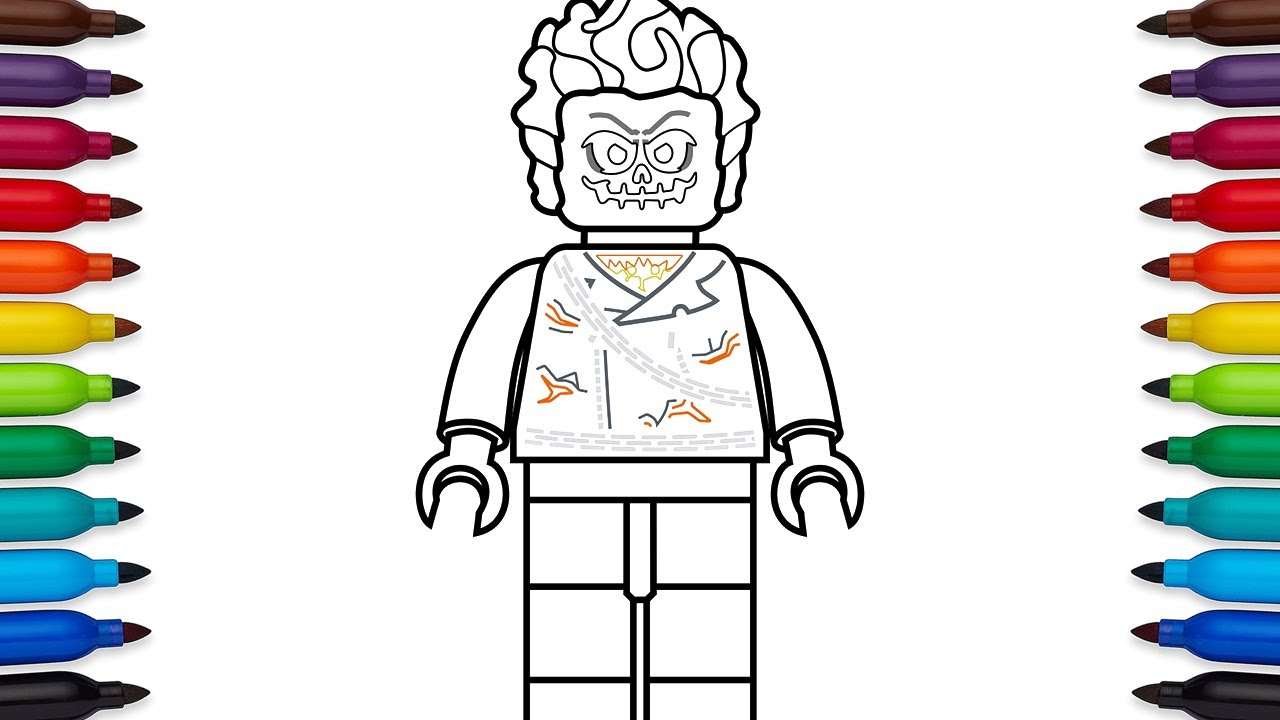 How to draw lego ghost rider marvel superheroes coloring pages