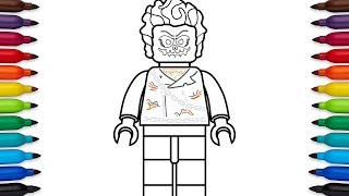 How to draw Lego Ghost Rider - Marvel Superheroes - coloring pages