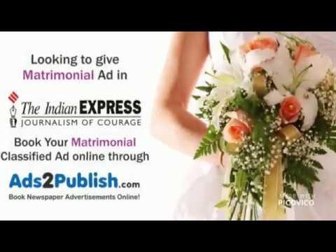 Indian Express Matrimonial Advertisement Booking
