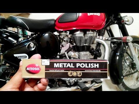 Autosol metal polish   Buffing DIY   ROYAL ENFIELD ENGINE   Shocking results
