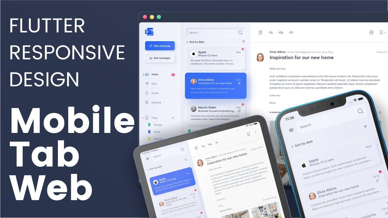 Flutter Fully Responsive Design UI - Mobile, Tablet and Web