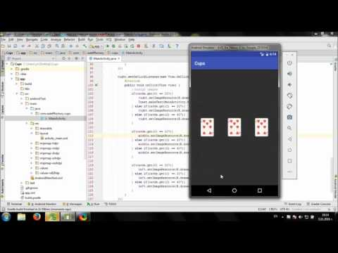 Develop Simple Cups Game In Android Studio