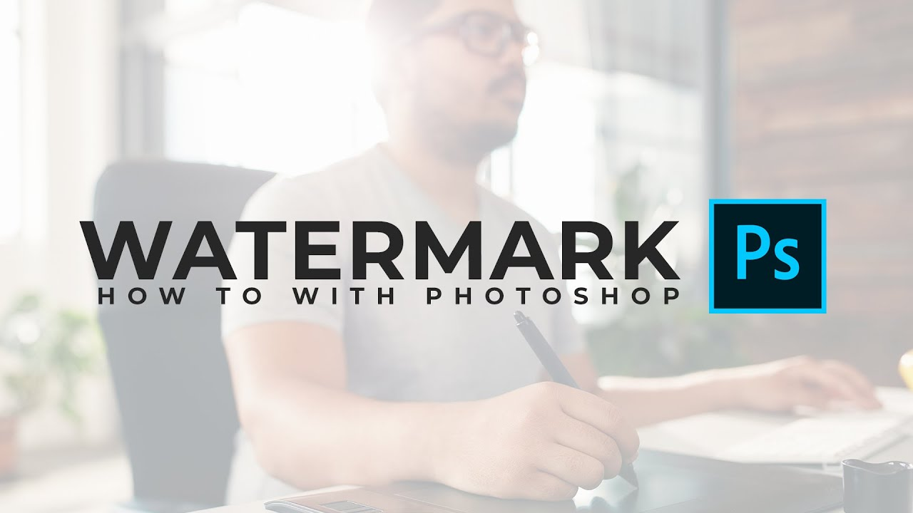 how to add a watermark to your work in photoshop beginner youtube