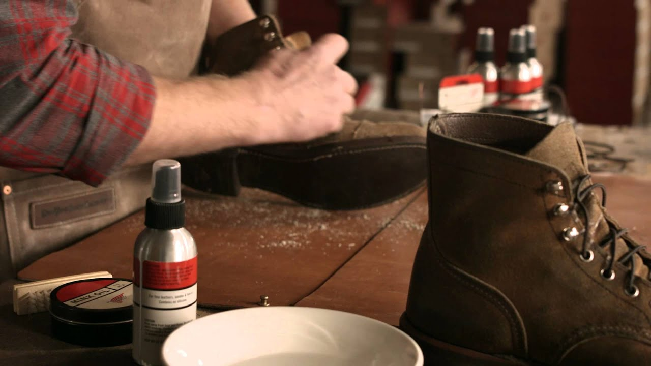 Red Wing Heritage - How to care for Roughout Leather boots - YouTube