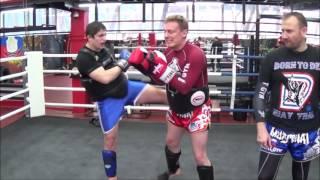Тайский бокс - Bulat Gold Gym - Алексей Харкевич - тренировка 24.12.16