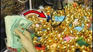 WON CASH FROM GOLDEN EGG CASH CLAW MACHINE!   JOYSTICK