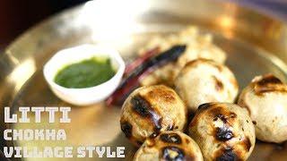 Traditional Litti Chokha Recipe Village Style | How to make  Litti Chokha  at Home  (Without music)