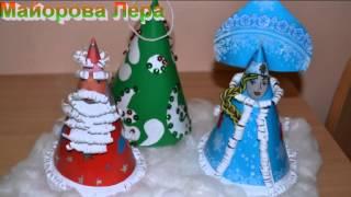 видео Новогодние игрушки своими руками: сделать елочную, из бумаги, рождественские, украшения, мастер-класс, шишка, деревянные, из лампочек, ниток, палочек, ангелочек