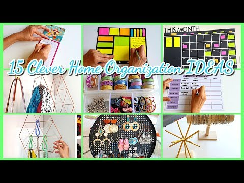 15 Clever Home Organization IDEAS You NEED in your House!! NEW 2019