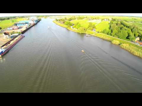 Hollandse IJssel  the Netherlands airborne