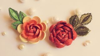 3D Quilled Rose/ Quilled Rose/ Sparkle Rose