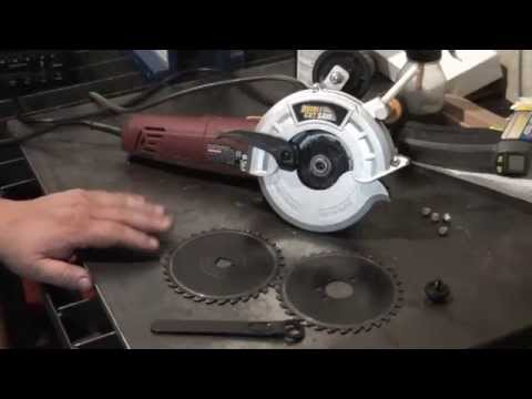Harbor Freight Double Cut Saw - YouTube