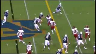 Kerryon Johnson's 47 Yard Touchdown Run (Wrestling Commentary)