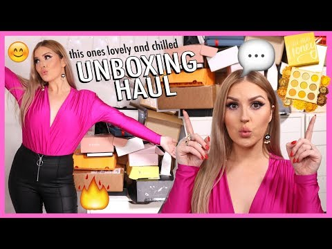 new makeup, free stuff & a GIVEAWAY! 😅 PR HAUL UNBOXING thumbnail