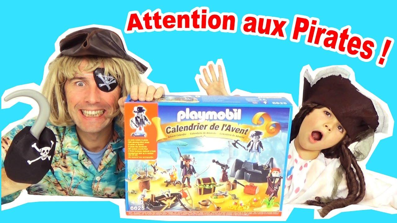 calendrier de l 39 avent playmobil pirates 6625 on ouvre les cases youtube