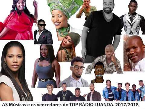 Só as músicas vencedoras do TOP RÁDIO LUANDA 2017/2018