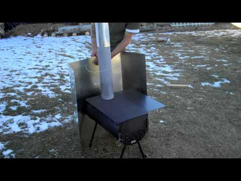 Homemade Heat Shield For Tent Stove Youtube