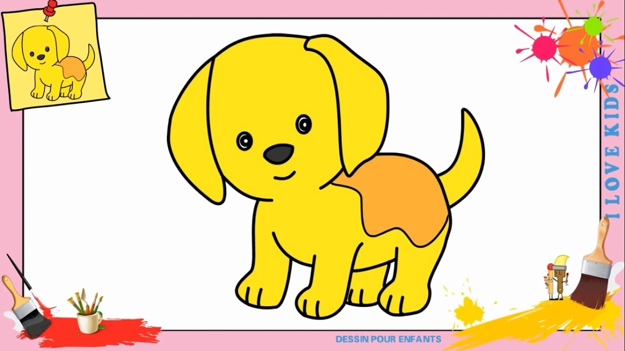 Dessin chien kawaii facile comment dessiner un chien kawaii facilement youtube - Dessins a dessiner facile ...