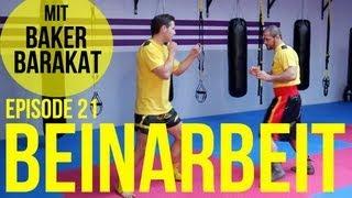 Kickbox Training #21 - Beinarbeit mit Baker Barakat / Boxen lernen / Kickboxen / Köln / Fitness