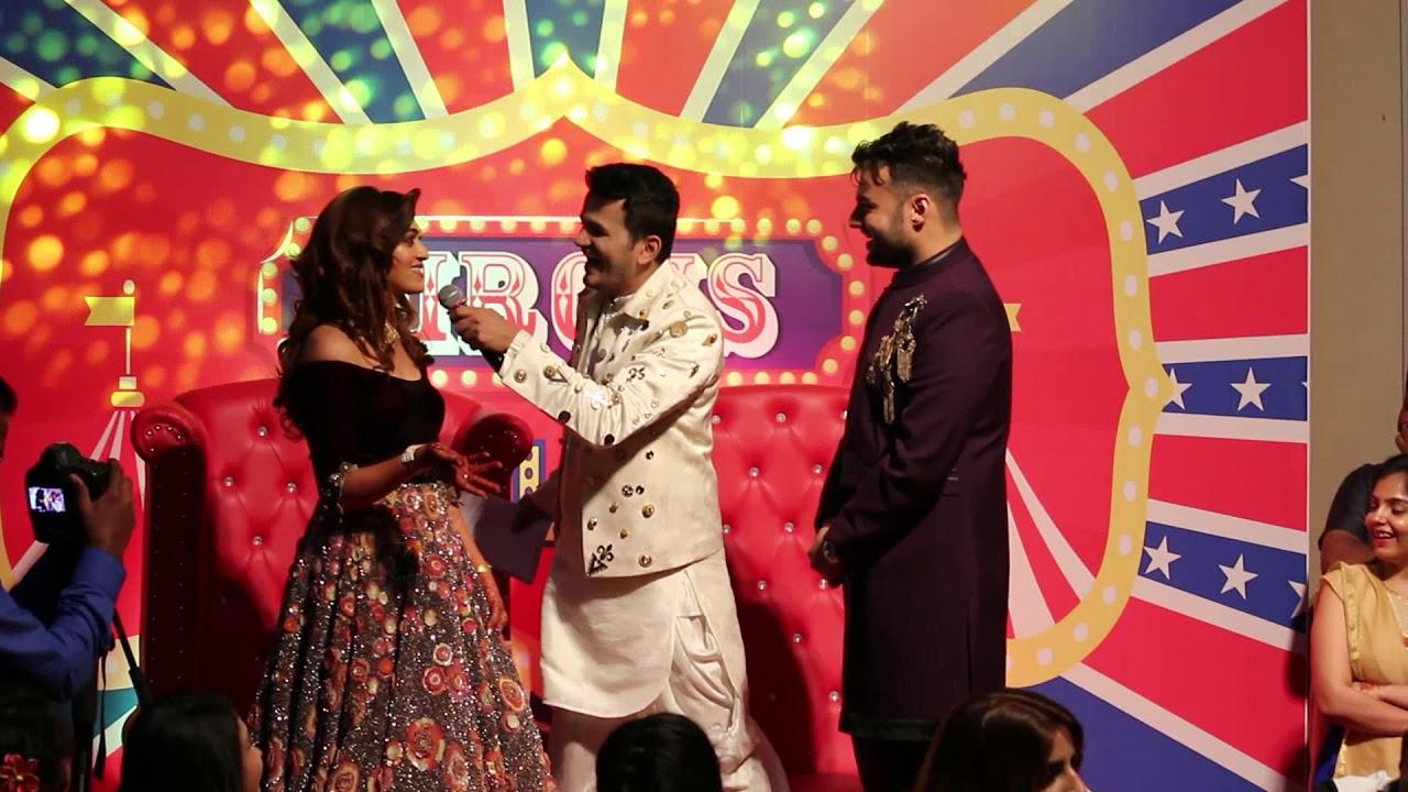 Sangeet Ceremony Anchor Girish Sharma Couple Game