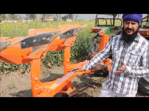 Reversible M B Plough delighed farmer_ Samirpur Punjab