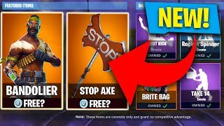 FIRST LOOK! NEW BANDOLIER SKIN STORE UPDATE! (Fortnite: Batte Royale)