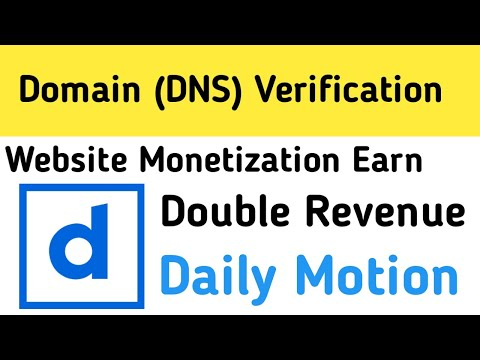 Domain Verification in Daily motion