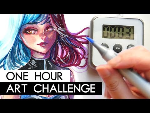one-hour-art-challenge-|-copic-illustration