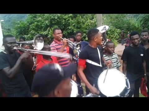 MATSE HAVE BRASS BAND IN THE VOLTA REGION OF GHANA WEST AFRICA