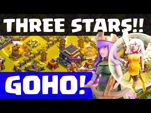 Clash of Clans - Queen Healer GoHo! THREE Star Strategy!